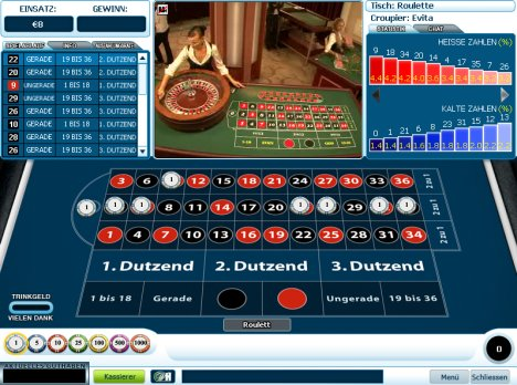 Roulette im WilliamHill Casino